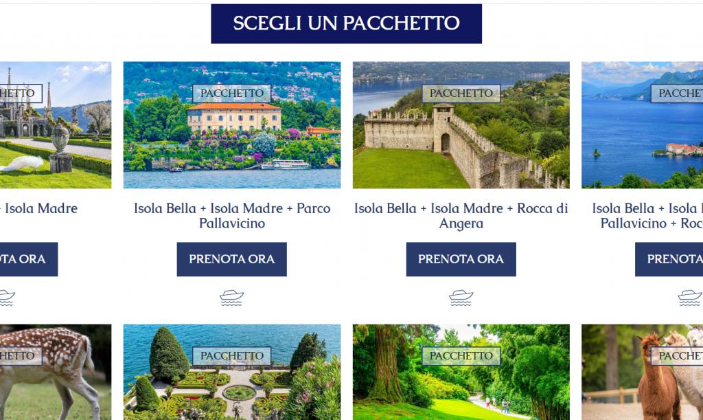 Booking online, Terre Borromeo